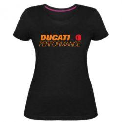 Жіноча стрейчева футболка Ducati Perfomance