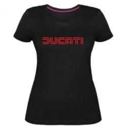 Женская стрейчевая футболка Ducati Vintage