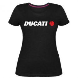Жіноча стрейчева футболка Ducati