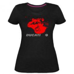 Жіноча стрейчева футболка Dukati