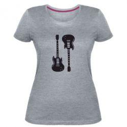 Жіноча стрейчева футболка Дві гітари