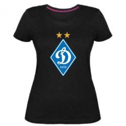 Женская стрейчевая футболка Dynamo Kiev
