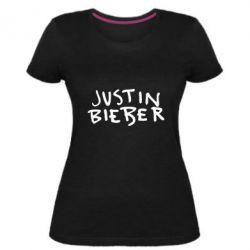 Жіноча стрейчева футболка Джастин Бибер