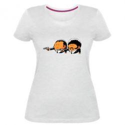 Женская стрейчевая футболка Джулс и Винсент - FatLine