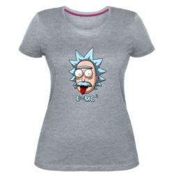 Жіноча стрейчева футболка E=MC 2