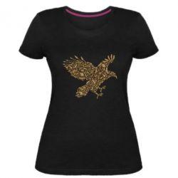 Женская стрейчевая футболка Eagle feather