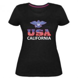 Женская стрейчевая футболка Eagle USA