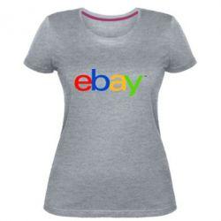 Жіноча стрейчева футболка Ebay