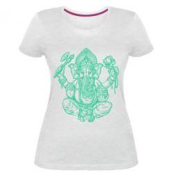 Купить Женская стрейчевая футболка Elephant of India, FatLine