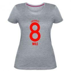 Женская стрейчевая футболка Eminem 8 mile