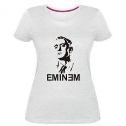 Женская стрейчевая футболка Eminem Logo