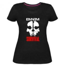 Жіноча стрейчева футболка Eminem Survival
