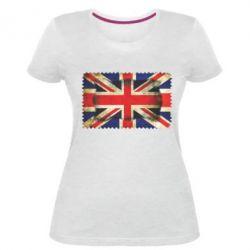 Женская стрейчевая футболка England