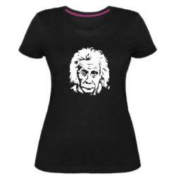Женская стрейчевая футболка Энштейн - FatLine