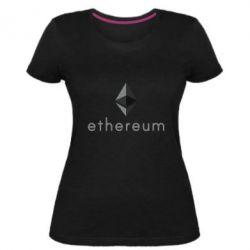 Женская стрейчевая футболка Ethereum