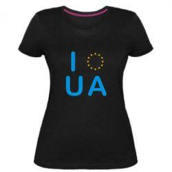 Женская стрейчевая футболка Euro UA