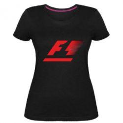 Женская стрейчевая футболка F1 - FatLine