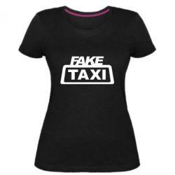 Жіноча стрейчева футболка Fake Taxi