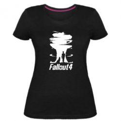 Женская стрейчевая футболка Fallout 4 Art