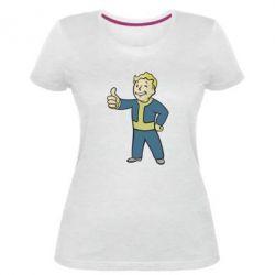 Женская стрейчевая футболка Fallout Boy