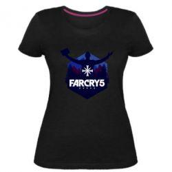 Жіноча стрейчева футболка Far cry 5 silhouette Joseph Seed