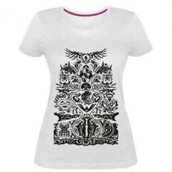 Жіноча стрейчева футболка Far cry tattoo
