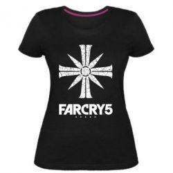 Жіноча стрейчева футболка FarCry 5 logo