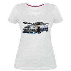 Женская стрейчевая футболка Fast and Furious - FatLine