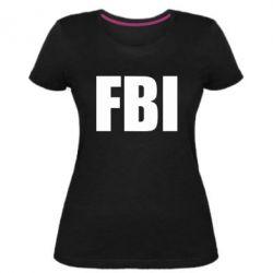 Женская стрейчевая футболка FBI (ФБР)