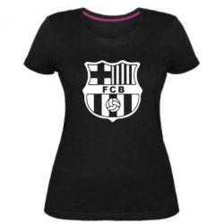Женская стрейчевая футболка FC Barcelona