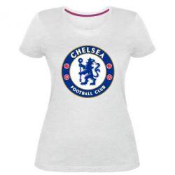 Купить Челси (Chelsea), Женская стрейчевая футболка FC Chelsea, FatLine