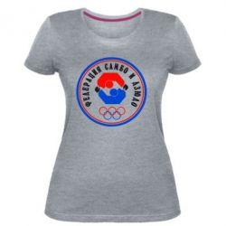 Жіноча стрейчева футболка Федерація Самбо і Дзюдо