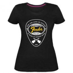 Женская стрейчевая футболка Fender