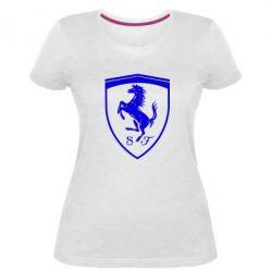 Жіноча стрейчева футболка Ferrari horse