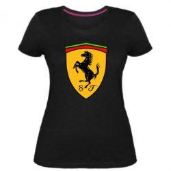 Женская стрейчевая футболка Ferrari