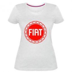 Жіноча стрейчева футболка Fiat logo