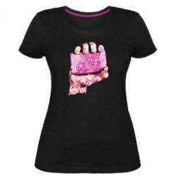 Жіноча стрейчева футболка Fight Club Art