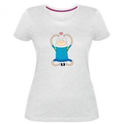 Женская стрейчевая футболка Finn dancing