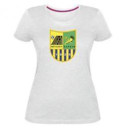 Жіноча стрейчева футболка ФК Металіст Харків