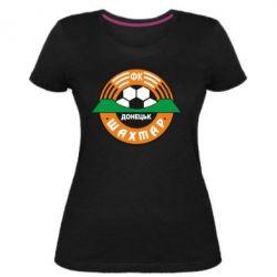Жіноча стрейчева футболка ФК Шахтар