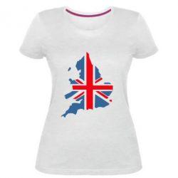 Женская стрейчевая футболка Флаг Англии