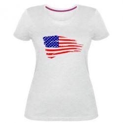 Жіноча стрейчева футболка Прапор США