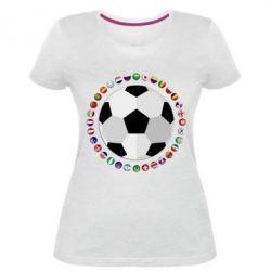 Жіноча стрейчева футболка Football