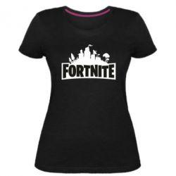 Жіноча стрейчева футболка Fortnite logo