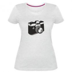 Жіноча стрейчева футболка Фотоапарат