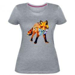 Жіноча стрейчева футболка Fox broken