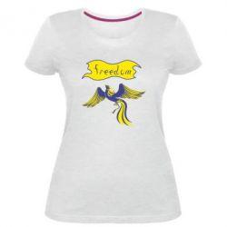 Жіноча стрейчева футболка Freedom!