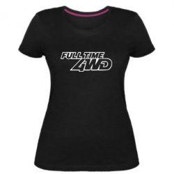 Женская стрейчевая футболка Full time 4wd - FatLine