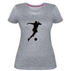 Женская стрейчевая футболка Футбол