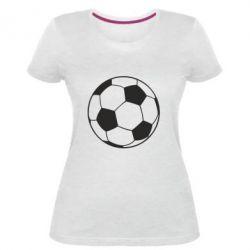 Жіноча стрейчева футболка Футбольний м'яч